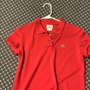 Red Lacoste polo